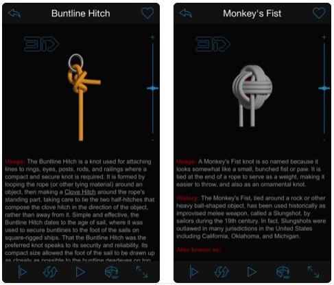 Knots 3D - Bản quyền miễn phí ứng dụng dạy cách buộc dây