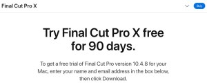 Apple Final Cut Pro X - 90 days trial