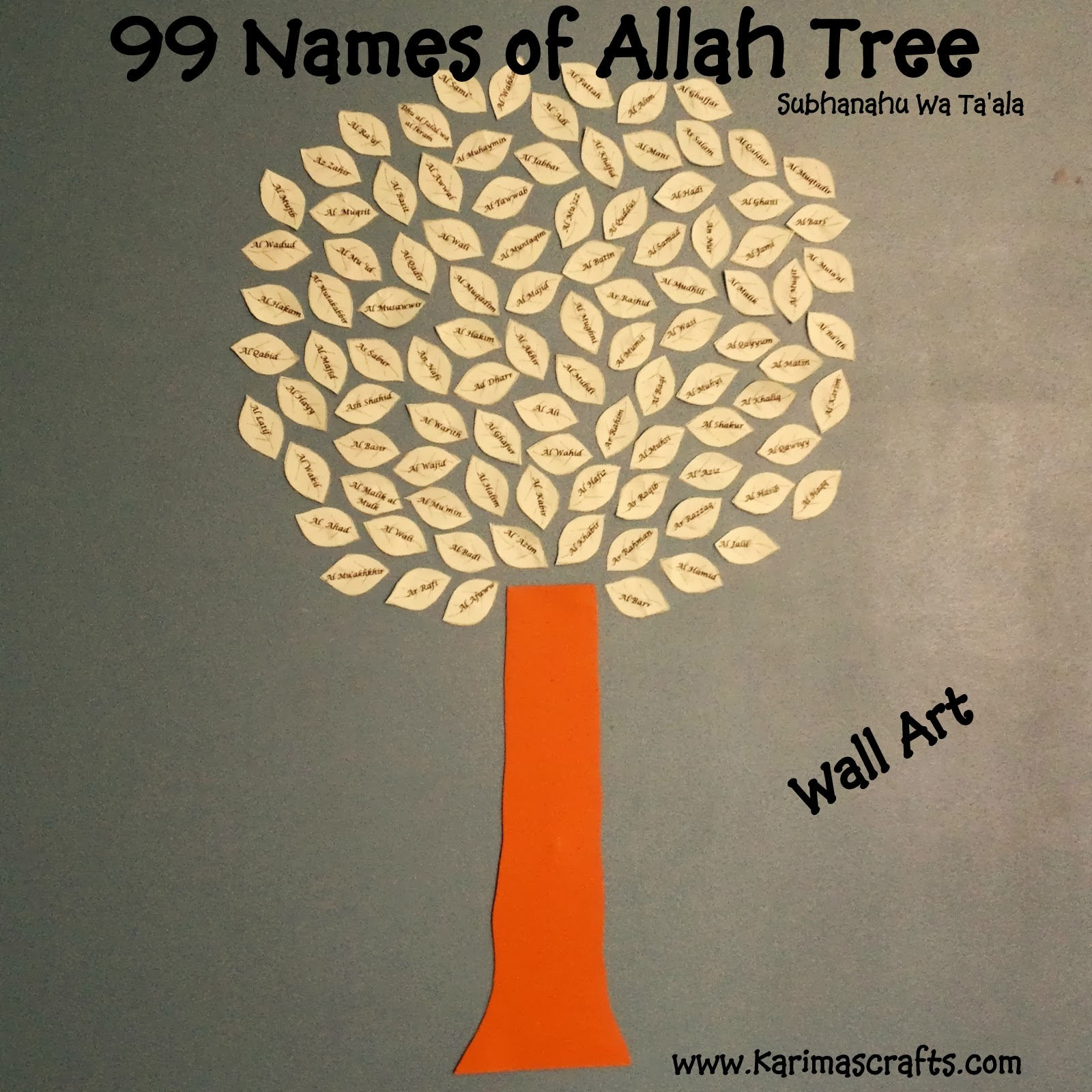 Teaching 99 Names Of Allah Swt To Your Children