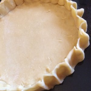 Hand-crimped pastry case