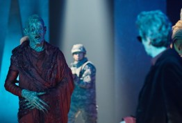 Doctor Who S10 - TX: 27/05/2017 - Episode: The Pyramid At The end Of The World (No. 7) - Picture Shows: Soldiers, Monk, The Doctor (PETER CAPALDI) - (C) BBC/BBC Worldwide - Photographer: Simon Ridgway
