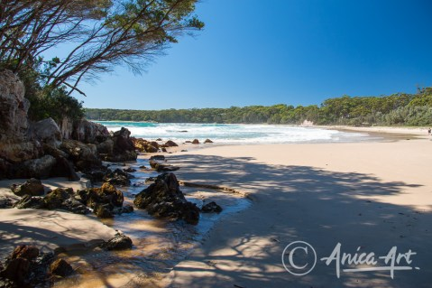At northern end of Washerwomans Beach - Bendalong