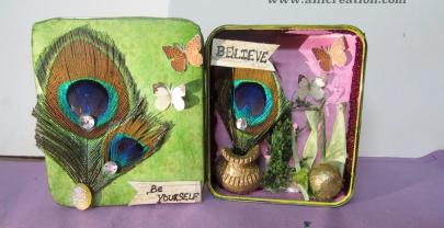 Altered tin box – Distress Mixed media craft