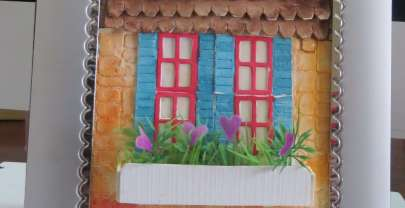 Vintage Home – Mixed Media watercolor