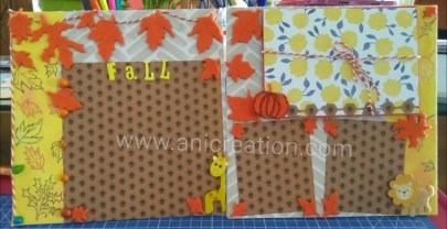 Baby boy Scrapbook page for Fall