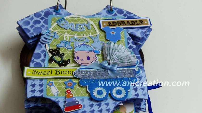 Baby Boy Scrapbook Album in Onesie pattern