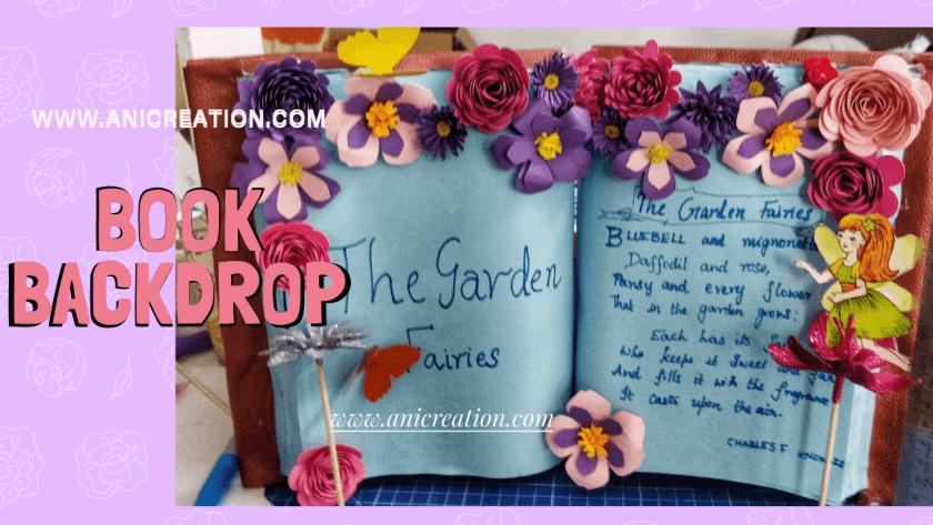 DIY miniature Book backdrop decor Model for birthday
