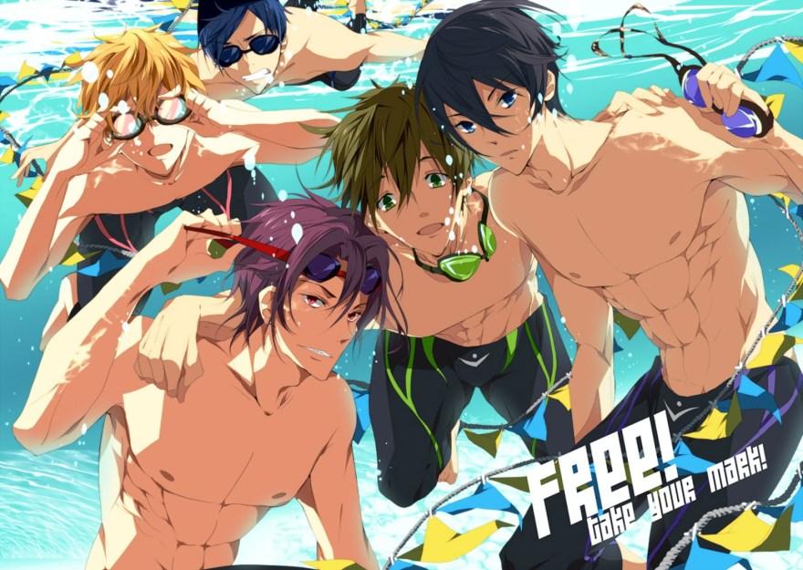 free goggles hazuki_nagisa loyalists male matsuoka_rin nanase_haruka free ryugazaki_rei swimsuit tachibana_makoto underwater HD Anime wallpaper [animefullfi
