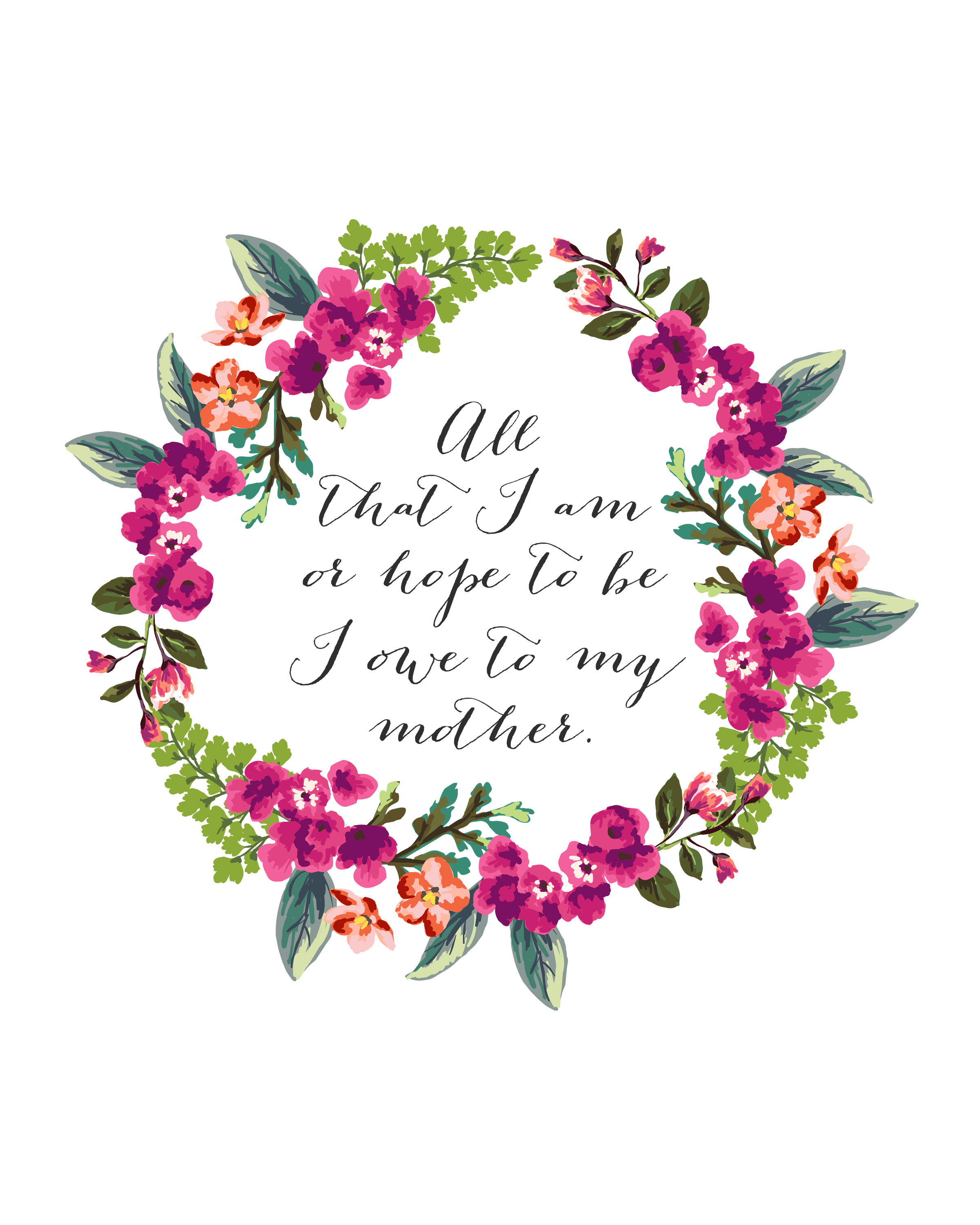 Free Mother S Day Printable