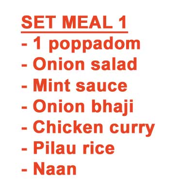 Set Meal for 1