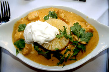 Chicken Malaya (cooked with pineapple)