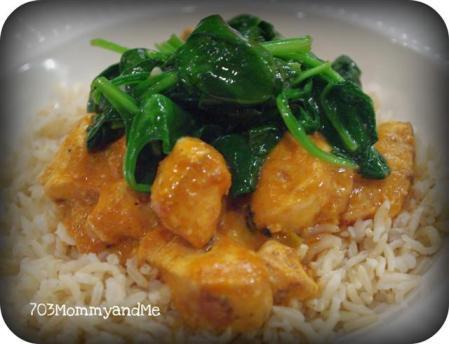 Chicken Tikka & Spinach