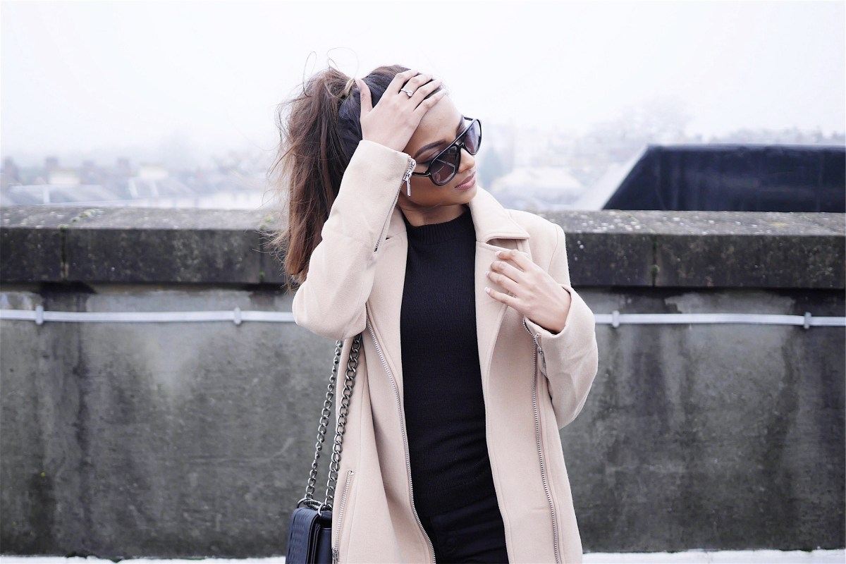 Missguided camel coat