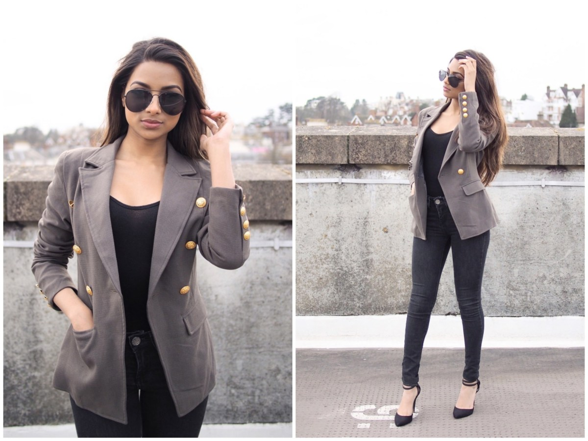 Khaki and Black
