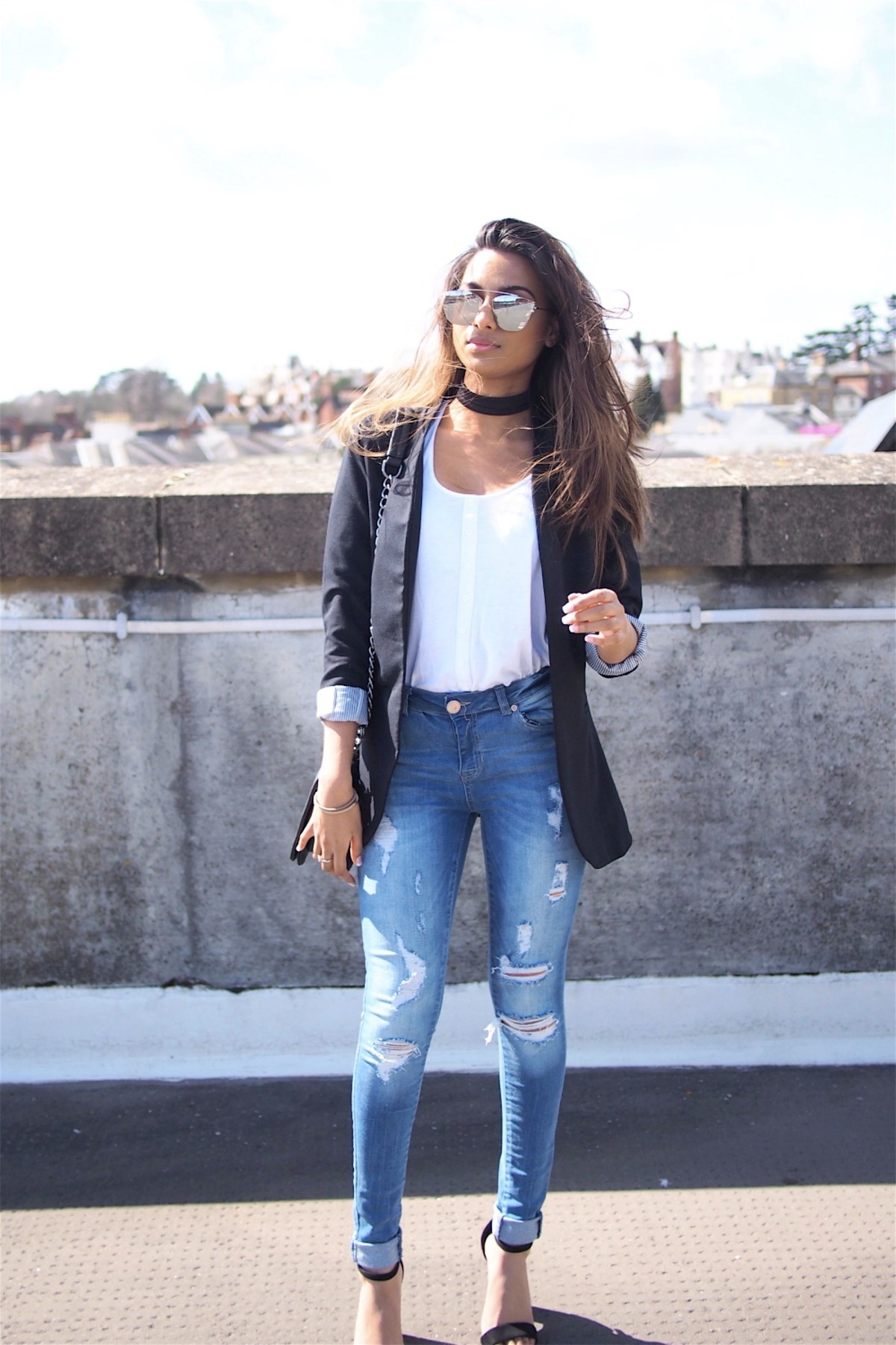 boohoo blazer outfit