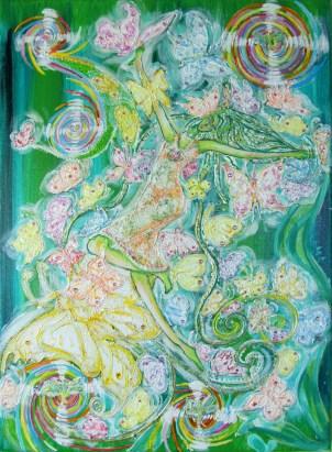 Elfka tańcząca z motylami