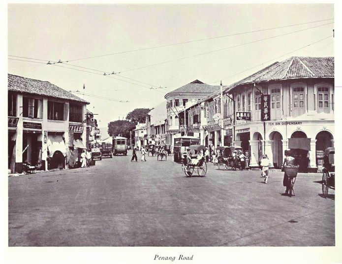 Old Penang Road junction with Chulia Street