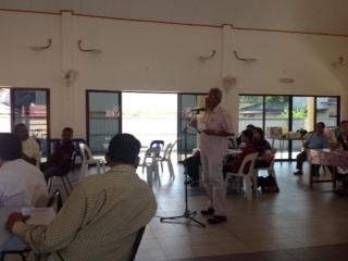 A participants raises a question during the dialogue in Kangar - Photograph: Mujahid