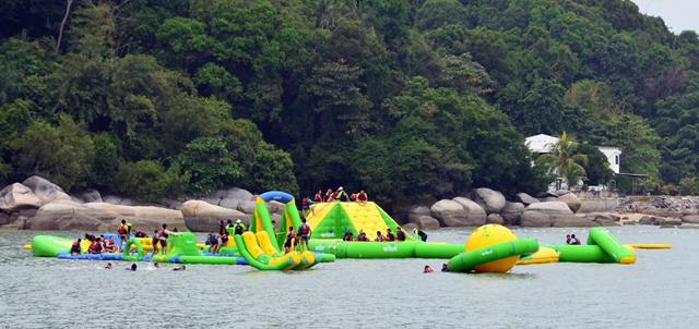 The Wet World Wild theme park in Batu Ferringhi