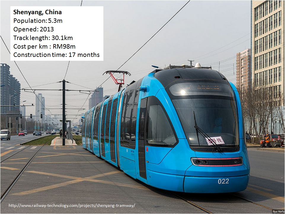 china embraces modern trams light rail much cheaper than