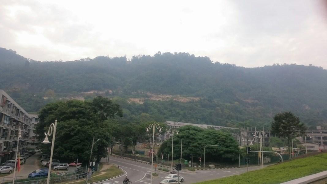 wider view of paya terubong August 2016