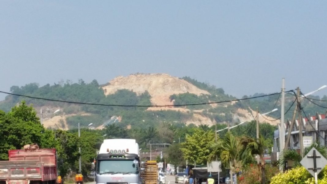 A botak hill near Juru