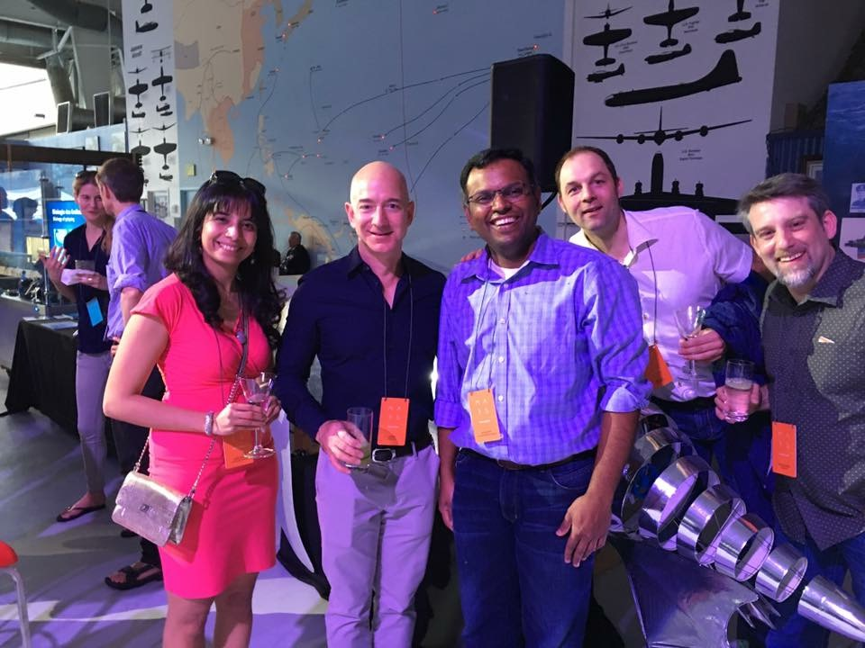 At Mars 2017 with Jeff Bezos, Swami Sivasubramanian, Hassan Sawaf and Ralf Herbrich