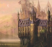 Hogwarts as imagined by Jim Kay