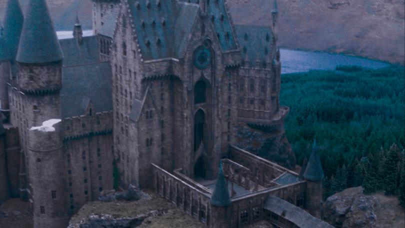 Vista aérea da torre do relógio.