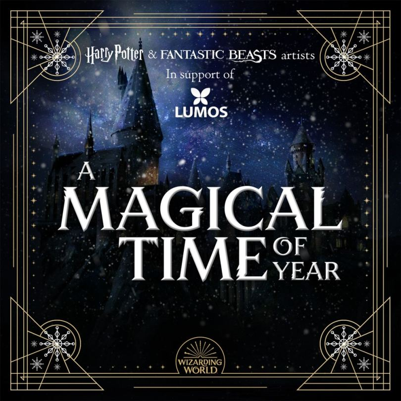 Capa do álbum A Magical Time of Year, com Hogwarts ao fundo;