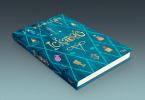 O livro colocado sobre uma superfície em perspectiva.