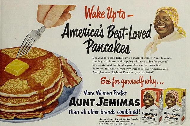 Publicidad de Aunt Jemima de 1951. Foto: Wikimedia Commons