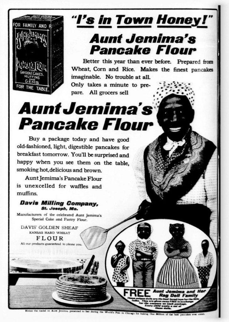 Anuncio de Aunt Jemima de 1909. Foto: Wikimedia Commons