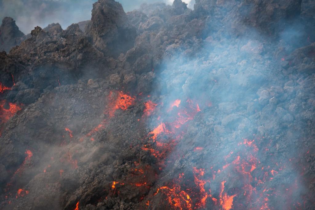 Lava del volcán Cumbre Vieja de las islas Canarias, España.Foto: Desiree Martin | AFP