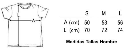 Medidas Tallas Camiseta Hombre
