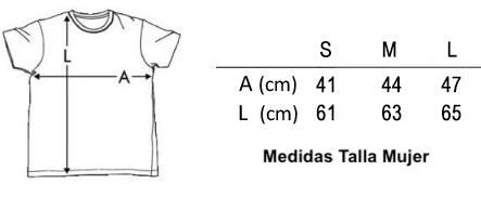 Medidas Tallas Camiseta Mujer