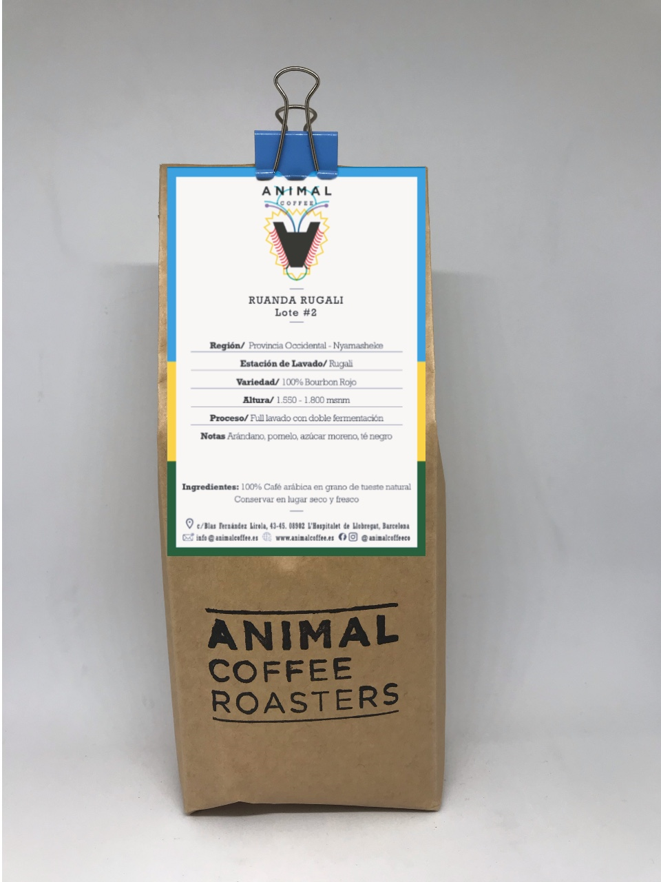 specialty coffee Ruanda Rugali. Roasted by Animal Coffee