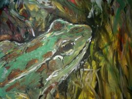 Party at the Frog Pond, Acrylic on Canvas, 2011