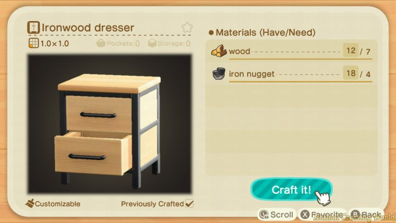 Ironwood Furniture Set: How to Craft & Get All Items ... on Ironwood Kitchenette Animal Crossing  id=27889