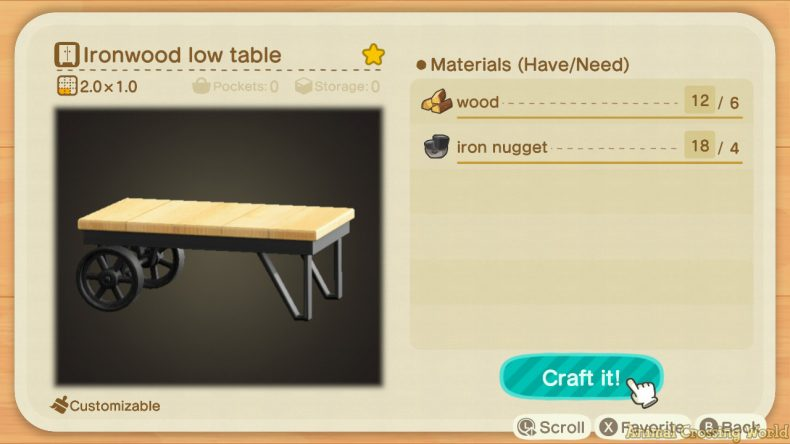 Ironwood Furniture Set: How to Craft & Get All Items ... on Ironwood Furniture Animal Crossing  id=38769