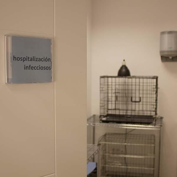 Zona de hospitalización de infecciosos