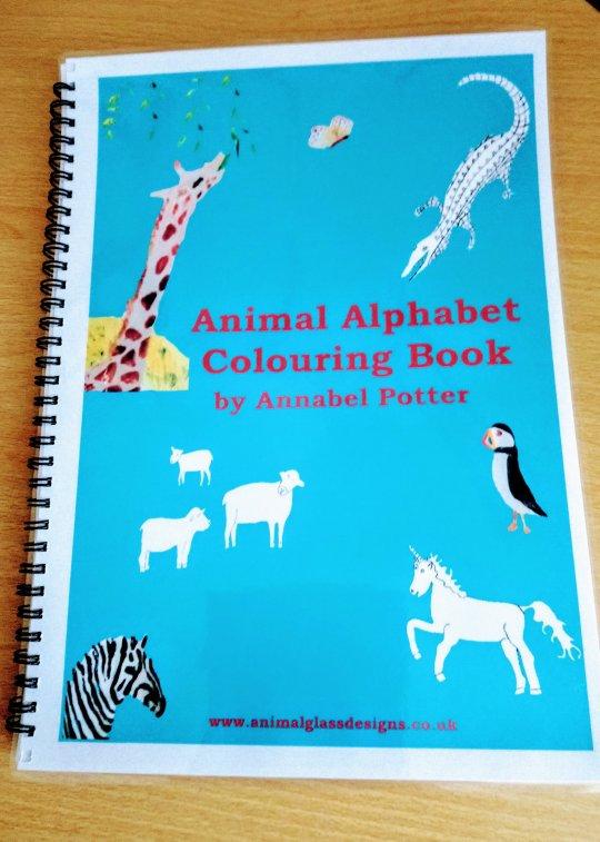 Cover of sprial bound animal alphabet colouring book