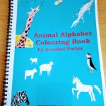 Cover of sprial bound animal alphabet colouring book