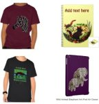 Selection of products with Wild Animal Illustrations
