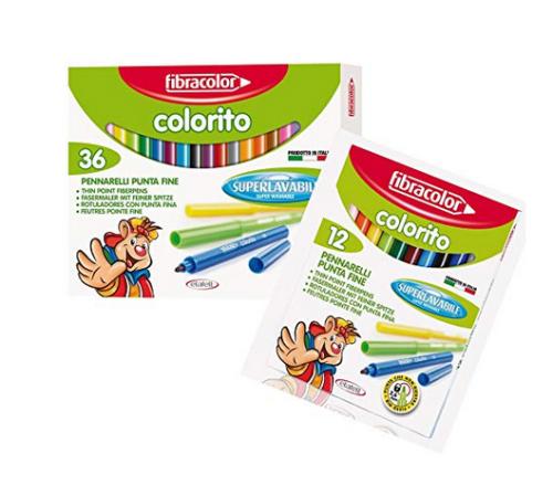 Set of washable fabric pens