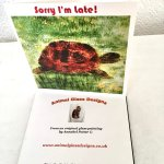 Sorry I'm late card with a tortoise painting