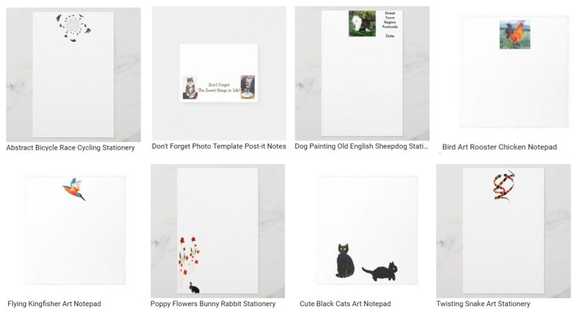 Personalized stationary collection with animals and nature