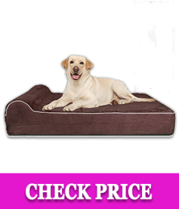 Thick High-Grade Orthopedic Memory Foam Dog Bed With Pillow
