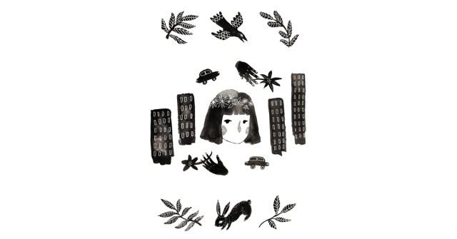 """Kuvituskuvassa kerrostaloja, autoja, ihmisen kasvot ja """"citykani""""."""