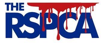 Website sign, RSPCA, blood